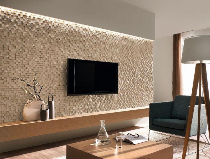 Wohnzimmer ideen tv wand stein  Die besten 25+ Tv wand stein Ideen auf Pinterest | Tv wand aus ...