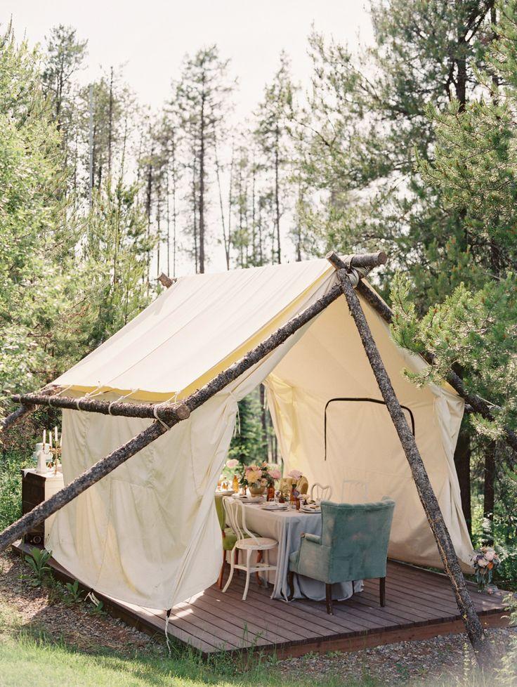 Outdoor dinner tent.