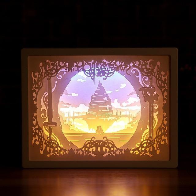 3d Light And Shadow Night Lamp Paper Carving Art 3d Paper Night Light 3d Light