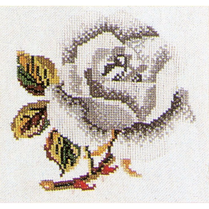 Thea Gouverneur counted-cross-stitch Kit Rose On Aida