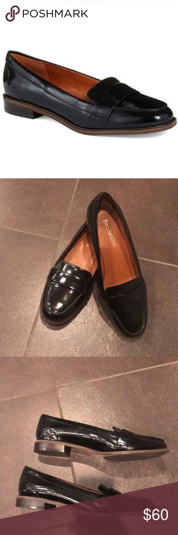 Enzo Angiolini Black Leather Loafers Slip On 8.5 Black Leather Enzo Angiolini loafers! In excellent condition! Worn maybe a couple of times, an easy slip on shoe that can be worn with absolutely anything (So chic and classy)! Size 8.5! Enzo Angiolini Shoes Flats & Loafers