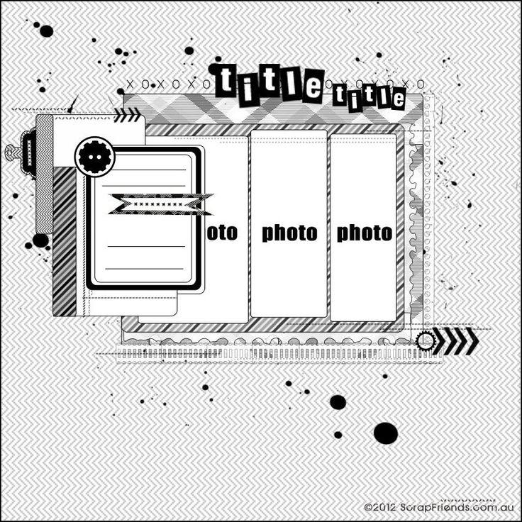 ScrapFriends - All about Scrapbooking: SKETCHES: Sketch Scrapbook, Scrapbook Ideas, Scrapfriend Scrapbook, Scrap Sketch, Scrapbook Photo, Scrapbook Layout, Scrapfriend Sketch, Scrapbook Sketch, Sb Sketch