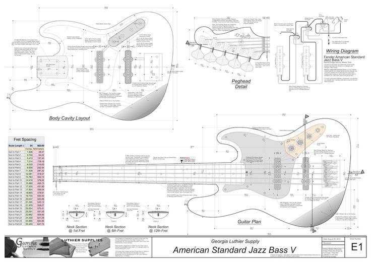 J Bass Blueprints Akusticheskaya Gitara Bas Gitary Elektrogitara