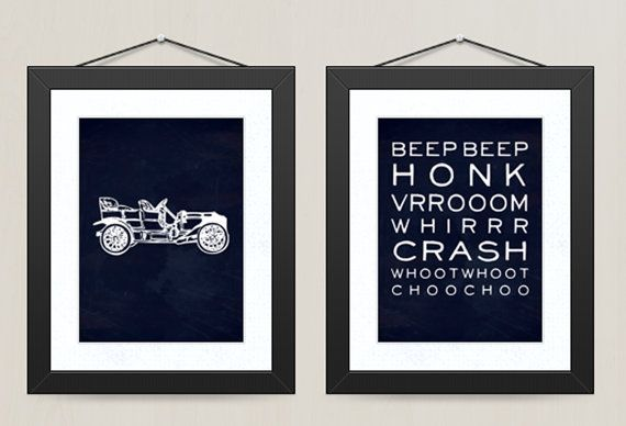 Car Nursery Wall Decor : Ideas about vintage car decor on