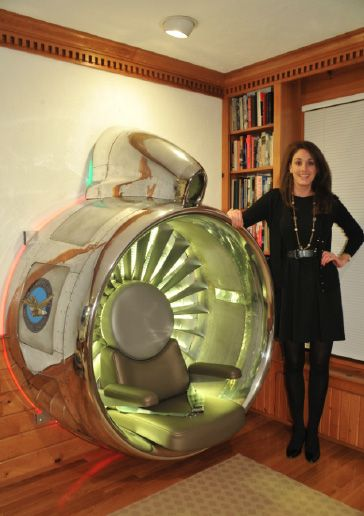 How a Boeing 707 jet engine inlet was rescued to become a seat in a home office  Repurpose