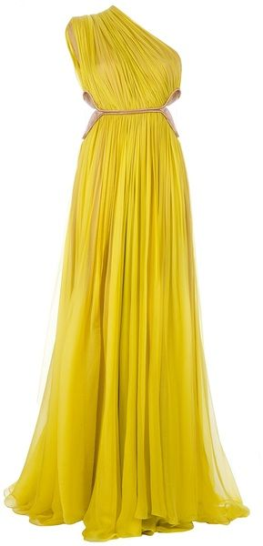Maria Lucia Hohan Yellow Keisha Dress