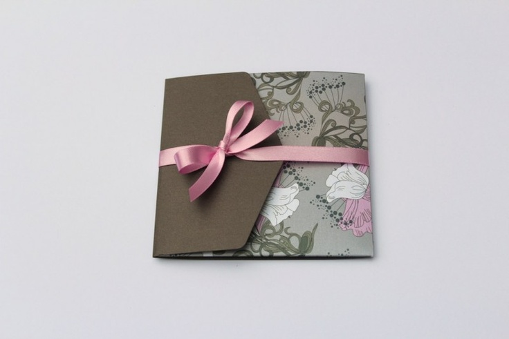 Subtle brown and soft pink combination with a floral pattern