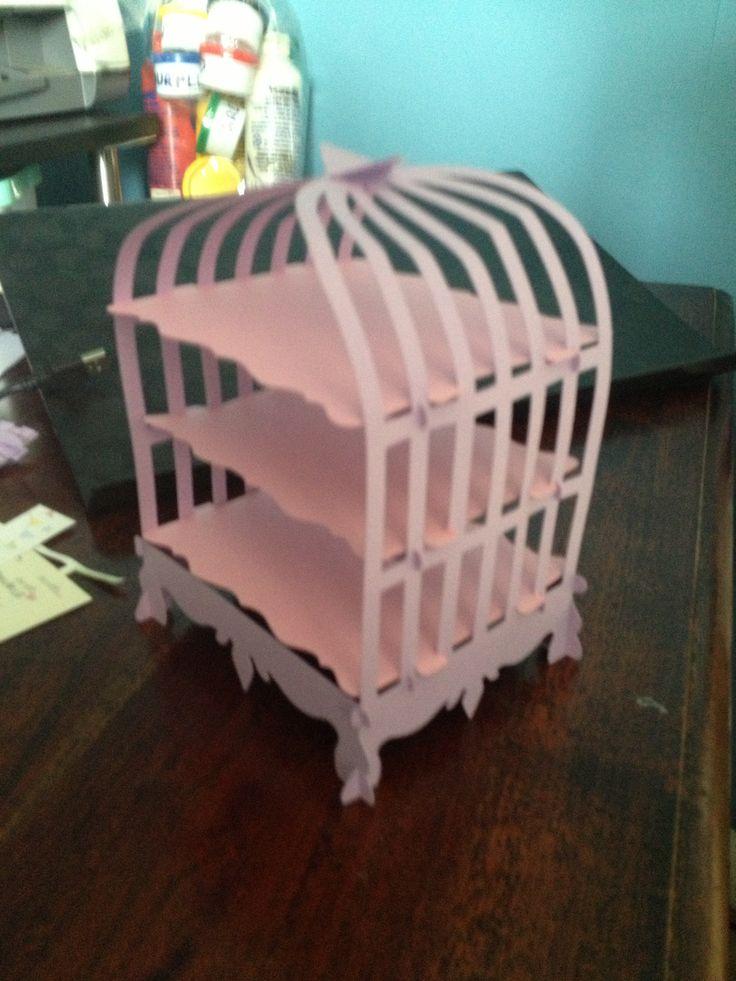 bid cage cake stand using silhouette cameo designer edition software. super cute