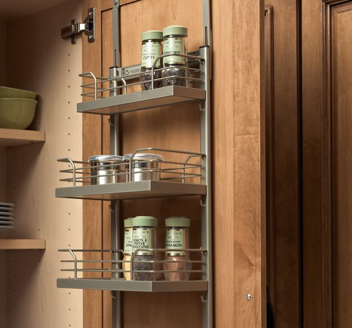 A Wall Spice Rack Fits On The Backside Of Any Cabinet Door For Your  Convenience. It Solves The Problem Of Disorganization And, Since It Is Hung  On A Wall ...