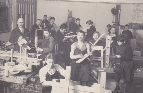 Photograph -- Latvia Carpentry School, 1928 | eBay