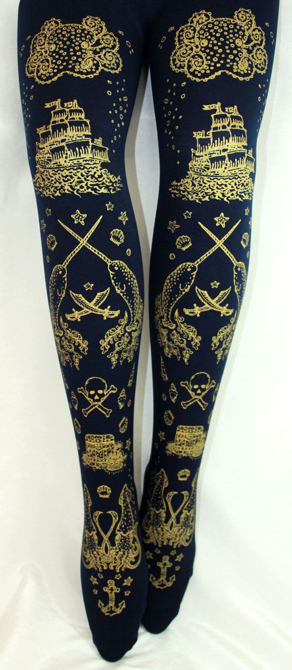M grand Pirate imprimé collants narval tatouages par TejaJamilla