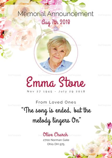 25+ einzigartige Funeral invitation Ideen auf Pinterest - memorial service invitation template