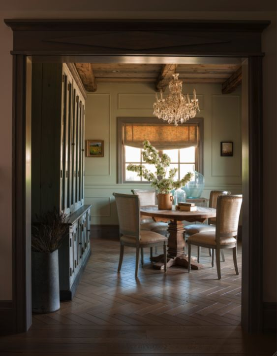 Dcor De Provence Country Home MagazineLOVE The Herringbone Floor Elegant Dining RoomBeautiful