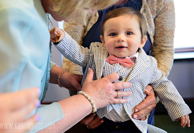 Getting little Cayden ready for Mommy & Daddy's big day!  I can't get over his sweet little face and that #searsucker suit!   #kristaphotoweddings