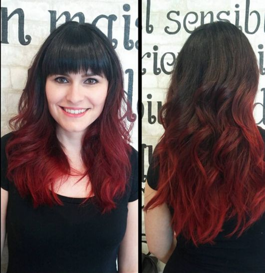 25 best ideas about ombr hair rouge on pinterest - Coloration rouge cerise ...