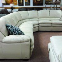 Natuzzi Savoy Leather Sectional sofa Sale $317800 46% Off photo: Natuzzi sectional Putty Leather
