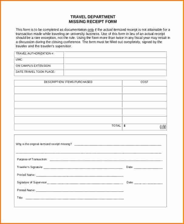 Missing Receipt Form Template Luxury 8 Lost Receipt Form Template Address Label Template Templates Order Form Template