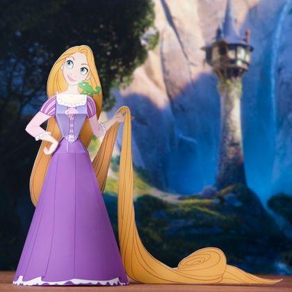 3D Rapunzel Papercraft