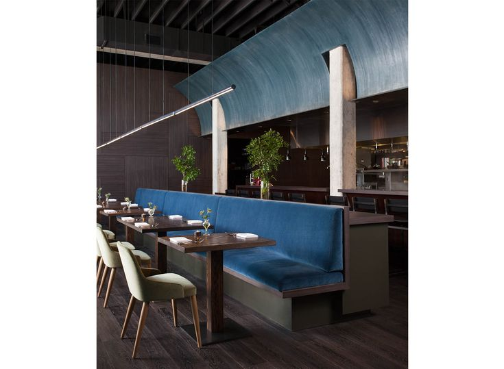 Catenary Bar Stools At Juniper Restaurant In Austin TX Interior By Cravotta Interiors