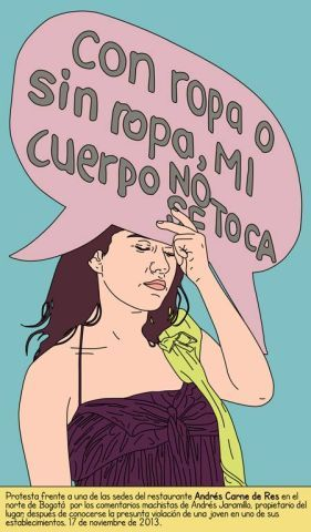 No más violencia contra las mujeres – una protesta gráfica de María María Acha-Kutscher https://shar.es/1jCuhB #Arte #Mujeres #Perú
