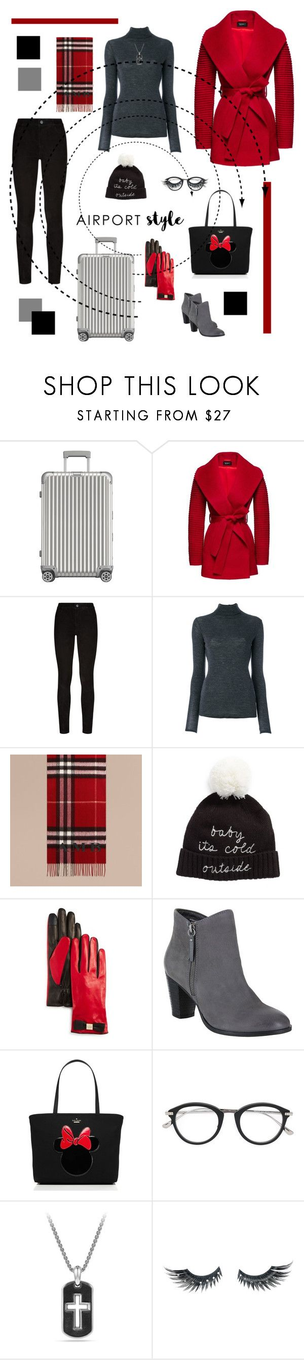 """Untitled #2820"" by tarakaypoly ❤ liked on Polyvore featuring Rimowa, Sentaler, Paige Denim, Vince, Burberry, Kate Spade, MIA, Tom Ford, David Yurman and Napoleon Perdis"