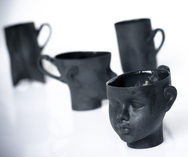 Martha stewart mugs black and white dresses