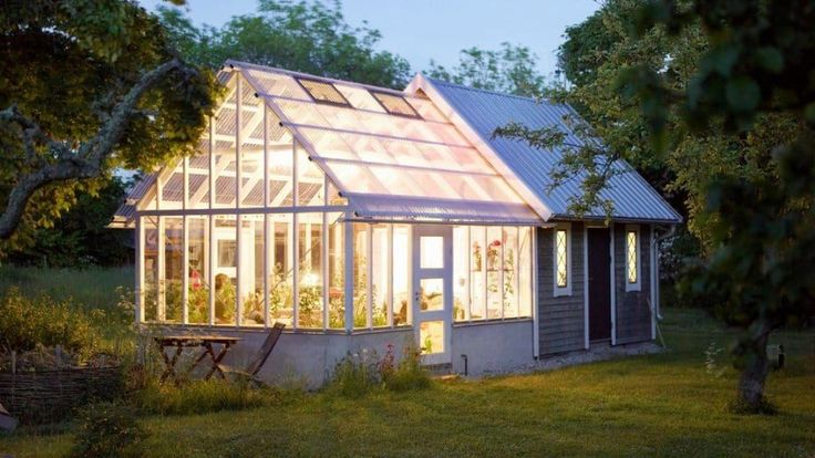 Light shining within rigid-panel greenhouse