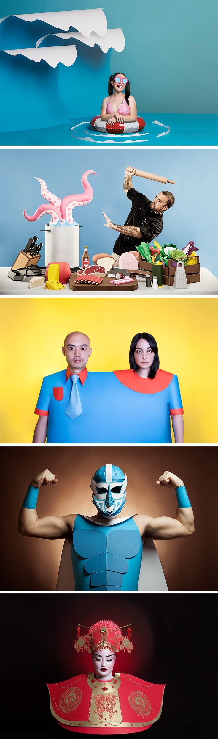 Click for more pics! | Quirky Paper Portraits by Set Designer Adriana Napolitano #paperart
