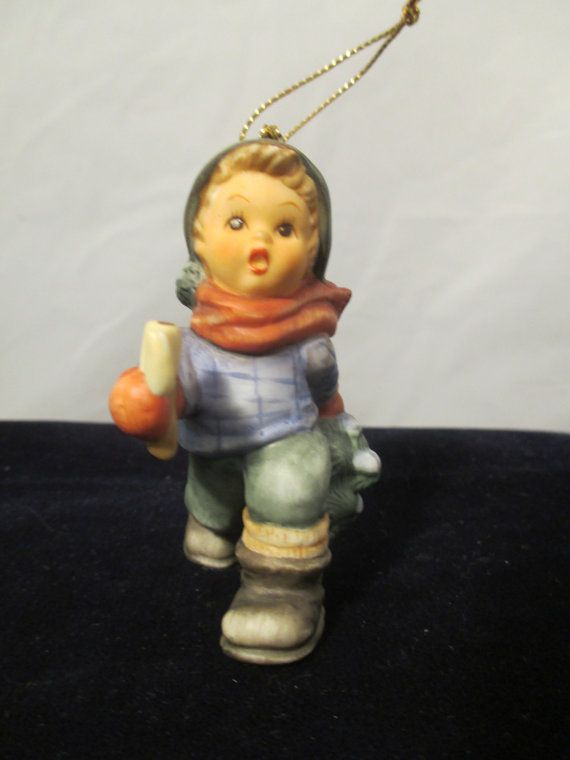 Berta Hummel Goebel Figurine Ornament Boy cutting by ...