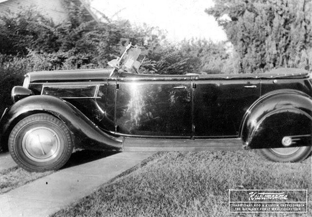 Another Shot Of Glen Wall S 1935fordcustom Phaeton From