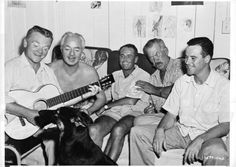 Still of James Cagney, Henry Fonda, Jack Lemmon, Ward Bond and William Powell in Mister Roberts (1955)