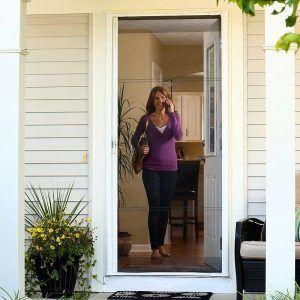 retractable screen doors for front door