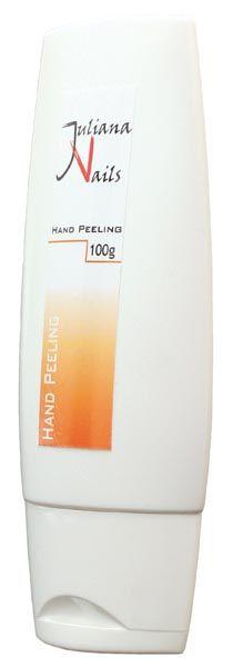 Hand Peeling - Juliana Nails Intensivpeeling mit besonders feinen Mikropartikeln. Es enthält Aloe Vera, Vitaminkomplexe und Extrakt vom Grünen Tee.