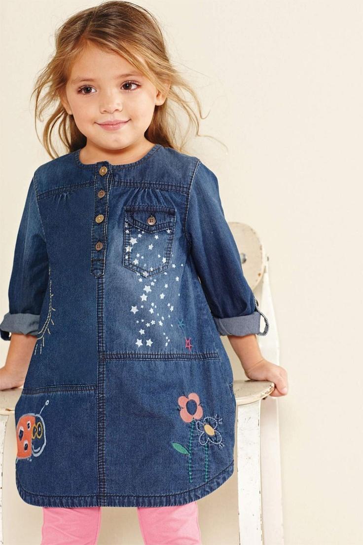 Girls Dresses Online - 3 months to 6 years - Next Embellished Denim Dress - EziBuy Australia