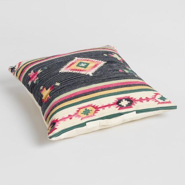 black gabbeh kilim floor pillow floor