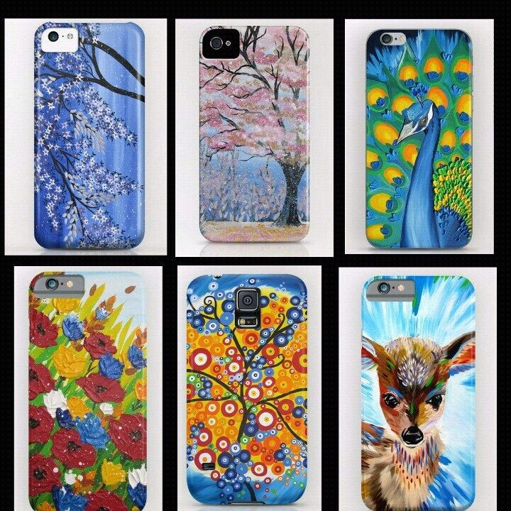I've  also put my art on phone covers now! They are in my other shop SuchFlair.etsy.com  :)