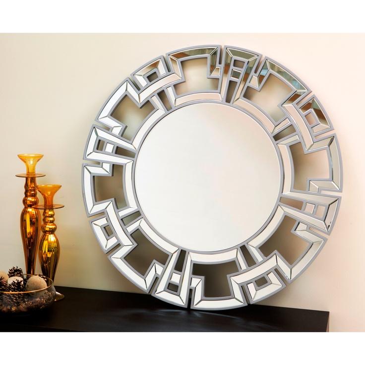 269 abbyson living pierre silver round wall mirror mirrors pinterest. Black Bedroom Furniture Sets. Home Design Ideas