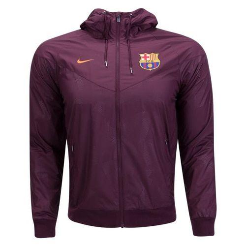 Nike Men's FC Barcelona Authentic Windrunner Jacket Night Marron/Hyper Crimson
