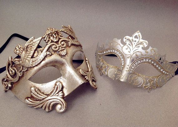 Hey, I found this really awesome Etsy listing at https://www.etsy.com/uk/listing/256426208/couple-masquerade-mask-pair-silver-gold