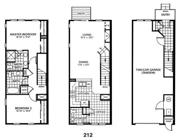 Baltimore row house floor plan architecture interior for Narrow row house floor plans