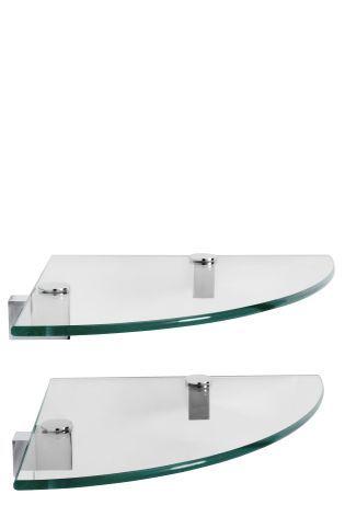 Buy Set Of 2 Glass Corner Shelves from the Next UK online shop