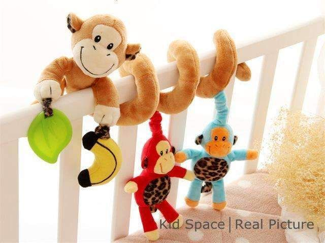 Monkey Baby Stroller Crib Baby Pram Cot Spiral Hanging Car Seat Activity Toys