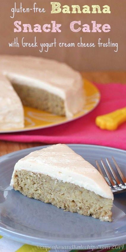 Gluten Free Banana Snack Cake #gluten_free #banana_recipe