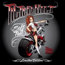 Tilted Kilt Men's Cassie Soft Tail Tee.