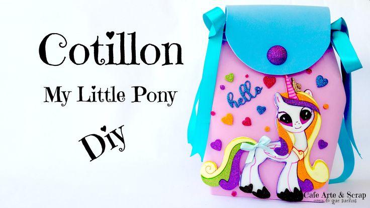 Lo que estabas esperando y aquí lo tienes. tutorial de morral My Little Pony ideal para un cotillon en la fiesta de tu princesa. Lo consigues por mi canal de Youtube. Allá te espero