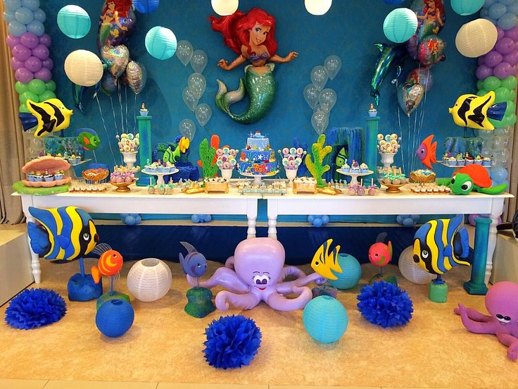 17 best ideas about little mermaid decorations on for Ariel decoration party