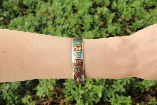 Copper & brass mantra adjustable cuff $7.95 USD  Tribal turquoise & coral bracelet $19.95   #tribalbracelet #gypsyjewelry #hippiejewelry #bohobracelet