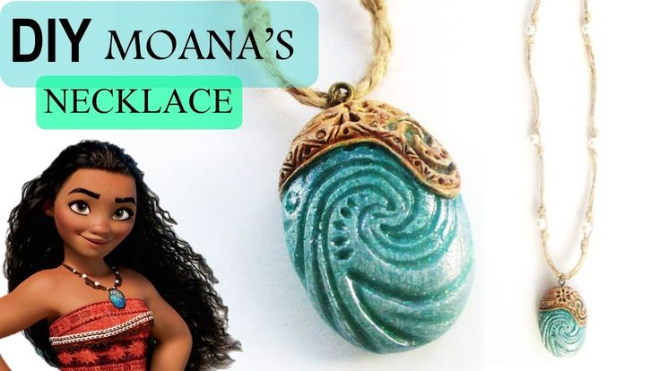 DIY Moana Heart of Te Fiti Necklace || Polymer Clay Tutorial || Maive Fe...