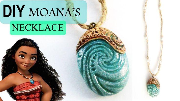 DIY Moana Heart of Te Fiti Necklace || Polymer Clay Tutorial || Maive Fe...