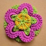 funky flower headband free crochet pattern